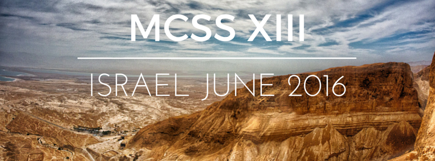 MCSS-XIII In ISRAEL!